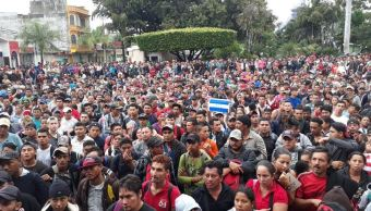 Se alista para ingresar a México primer grupo de migrantes