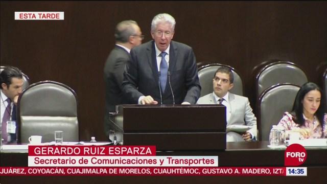 Gerardo Ruiz Esparza comparece ante diputados