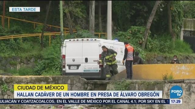 Hallan cadáver de hombre en presa de Álvaro Obregón