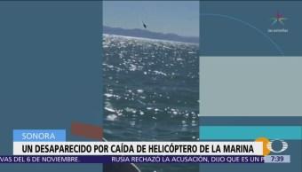 Helicóptero de Semar se desploma en Alto Golfo de California