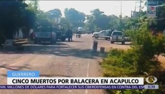 Hombres armados agreden a policías afuera de Acapulco