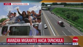 Hondureños Viajan Camionetas Llegar Tapachula