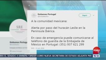 Huracán 'Leslie' Tocará Tierra Portugal