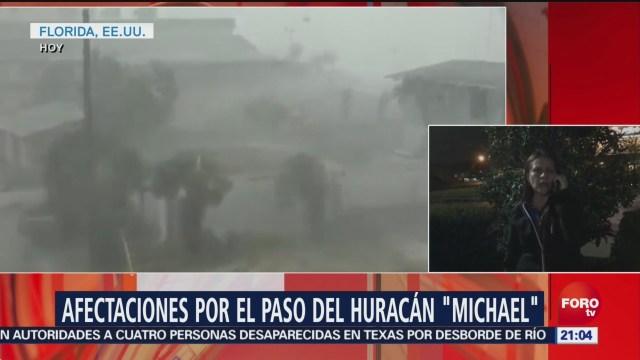 Con el paso de las horas crecen los reportes de daños y víctimas por el impacto del huracán 'Michael' en Florida; se reporta un muerto en el condado de Gadsden