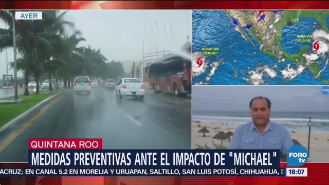 Huracán Michael, en fase de alejamiento de Quintana Roo