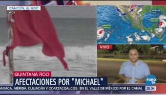 Huracán Michael Se Aleja Costas Mexicanas Quintana Roo
