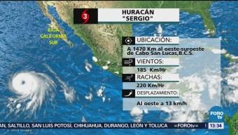 Huracán Sergio podría cambiar trayectoria y acercarse