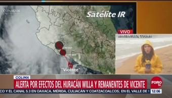 Huracán 'Willa' provoca encharcamientos en Colima