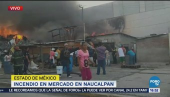 Incendio en mercado de Naucalpan