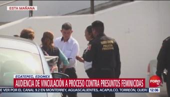 Inicia audiencia de vinculación a proceso de feminicida de Ecatepec y su pareja