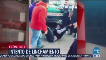 Intentan Linchar Hombre León Guanajuato Central Abastos