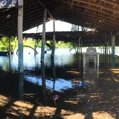 Fuerte oleaje daña restaurantes en playas de Tecomán, Colima