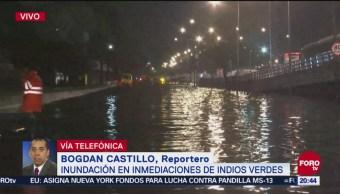 Inundaciones Inmediaciones Metro Indios Verdes CDMX