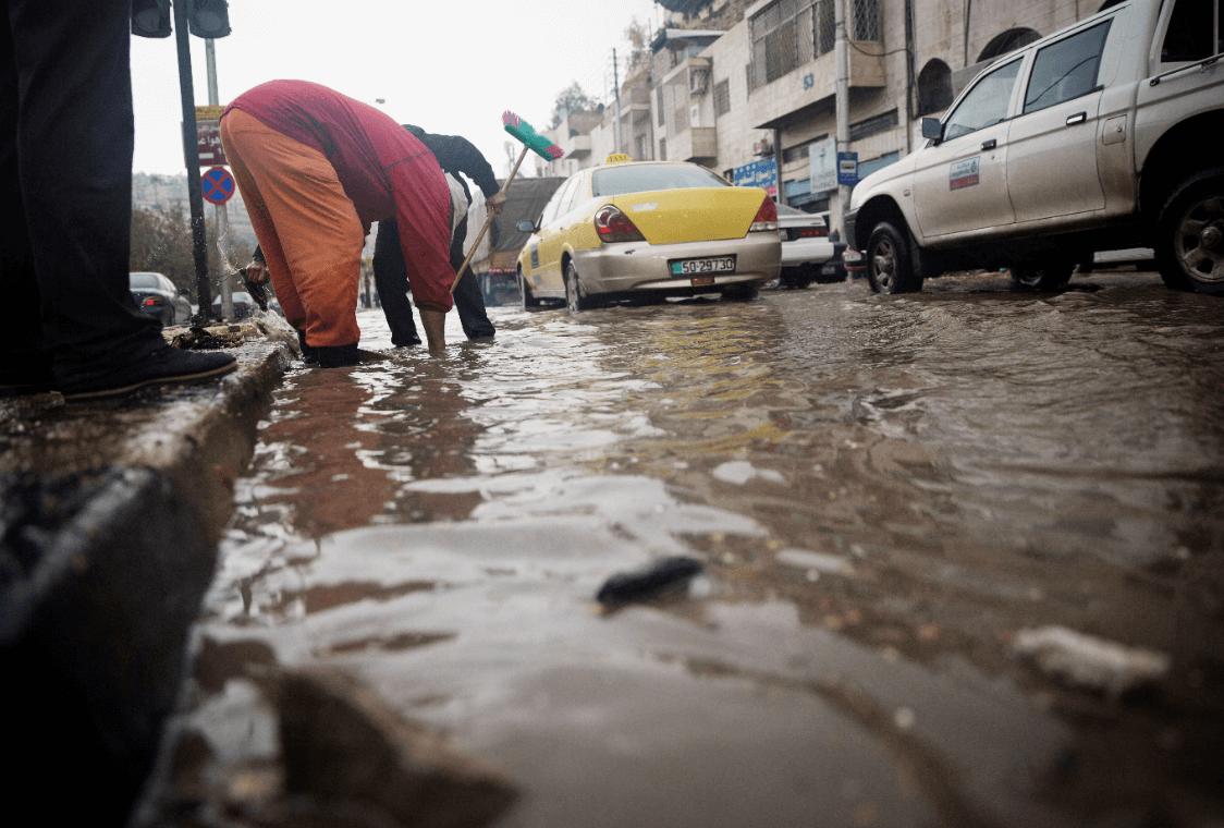 Inundaciones en Amnan, Jordania. (Archivo)