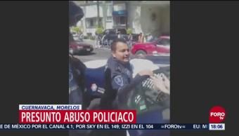 Investigan presunto abuso policiaco en Cuernavaca