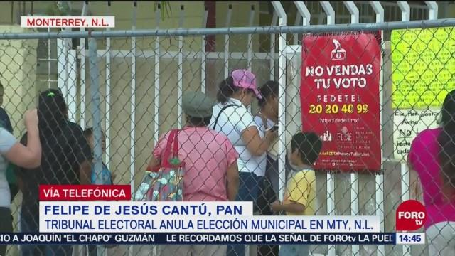 Motivación política, determinación judicial de anular elecciones en Monterrey