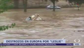 Tormenta 'Leslie' causa destrozos en Europa
