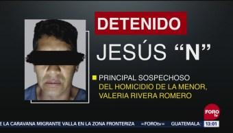 Imputan Feminicidio Detenido Caso Valeria Melchor Ocampo, Estado De México Niña Valeria Rivera Romero, 12 Años