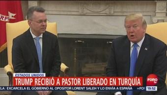 Trump Recibe Pastor Liberado Turquía El Presidente Donald Trump Andrew Brunson