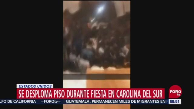 Se Desploma Piso Durante Fiesta Carolina Del Sur Estados Unidos