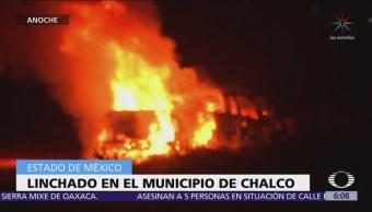 Linchan a automovilista tras atropellar a 21 personas en Chalco, Edomex