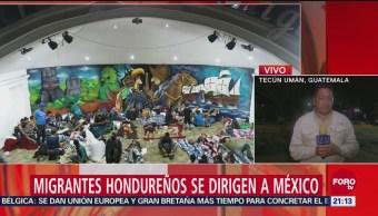 Llegan Primeros Migrantes Centroamericanos Chiapas México