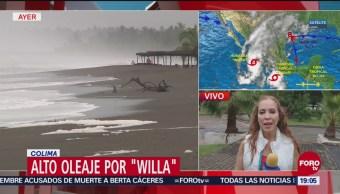 Llueve Con Intensidad En Colima Huracán Willa