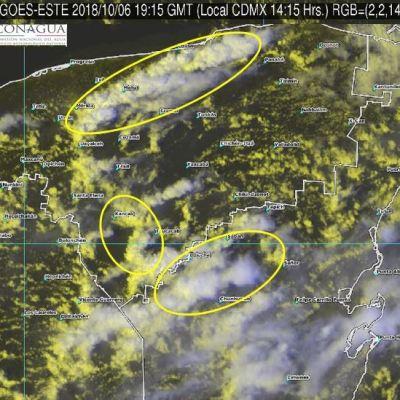 Sistema de baja presión propicia tormentas en Quintana Roo y Yucatán