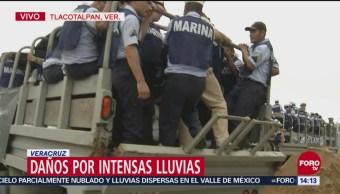 Lluvia incomunica a 80 comunidades de Veracruz