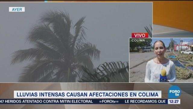 Lluvias intensas dañan 45 vehículos y 11 casas en Colima