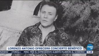 Lorenzo Antonio ofrecerá concierto benéfico