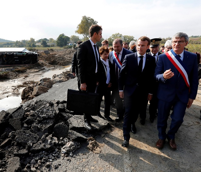 Macron anuncia ayuda damnificados tras inundación en Francia