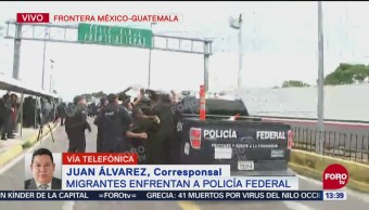 Manelich Castilla Craviotto dialoga con caravana migrante