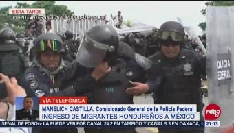 Manelich Castilla Operativo PF Caravana Migrante Chiapas