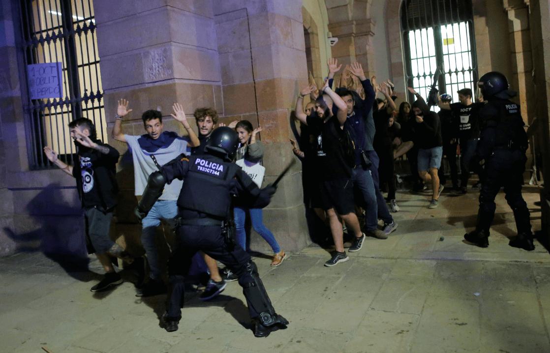 Manifestaciones en Cataluña. (Reuters)