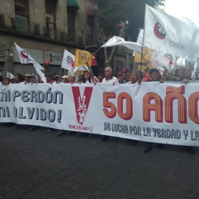 Marcha por el 2 de octubre de 1968 se lleva a cabo de forma pacífica