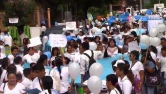 Marchan en contra del aborto en Chilpancingo, Guerrero