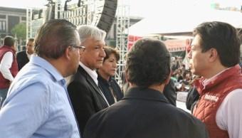Jesús Ramírez busca apoyo a consulta con diputados de Morena