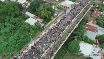 Más hondureños se preparan para llegar a México