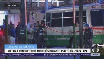 Matan a conductor de microbús durante asalto en Iztapalapa
