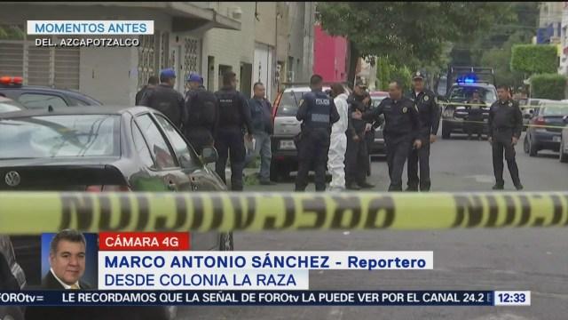 Matan a un hombre por disparos arma de fuego Azcapotzalco