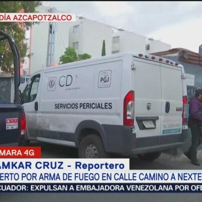 Matan a una persona en calle Camino a Nextengo, Azcapotzalco