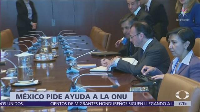 México pide a ACNUR apoyo para procesar solicitudes de asilo de migrantes