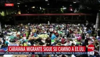 Migrantes Centroamericanos Acampan Tapachula, Chiapas