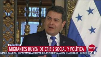 Migrantes Hondureños Huyen De Crisis Social Política