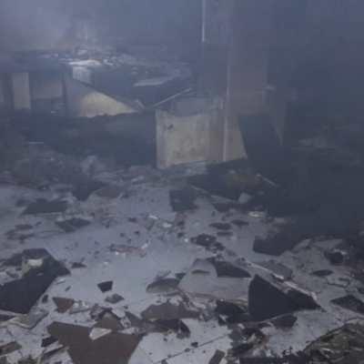 Migrantes incendian garita migratoria en Pijijiapan, Chiapas