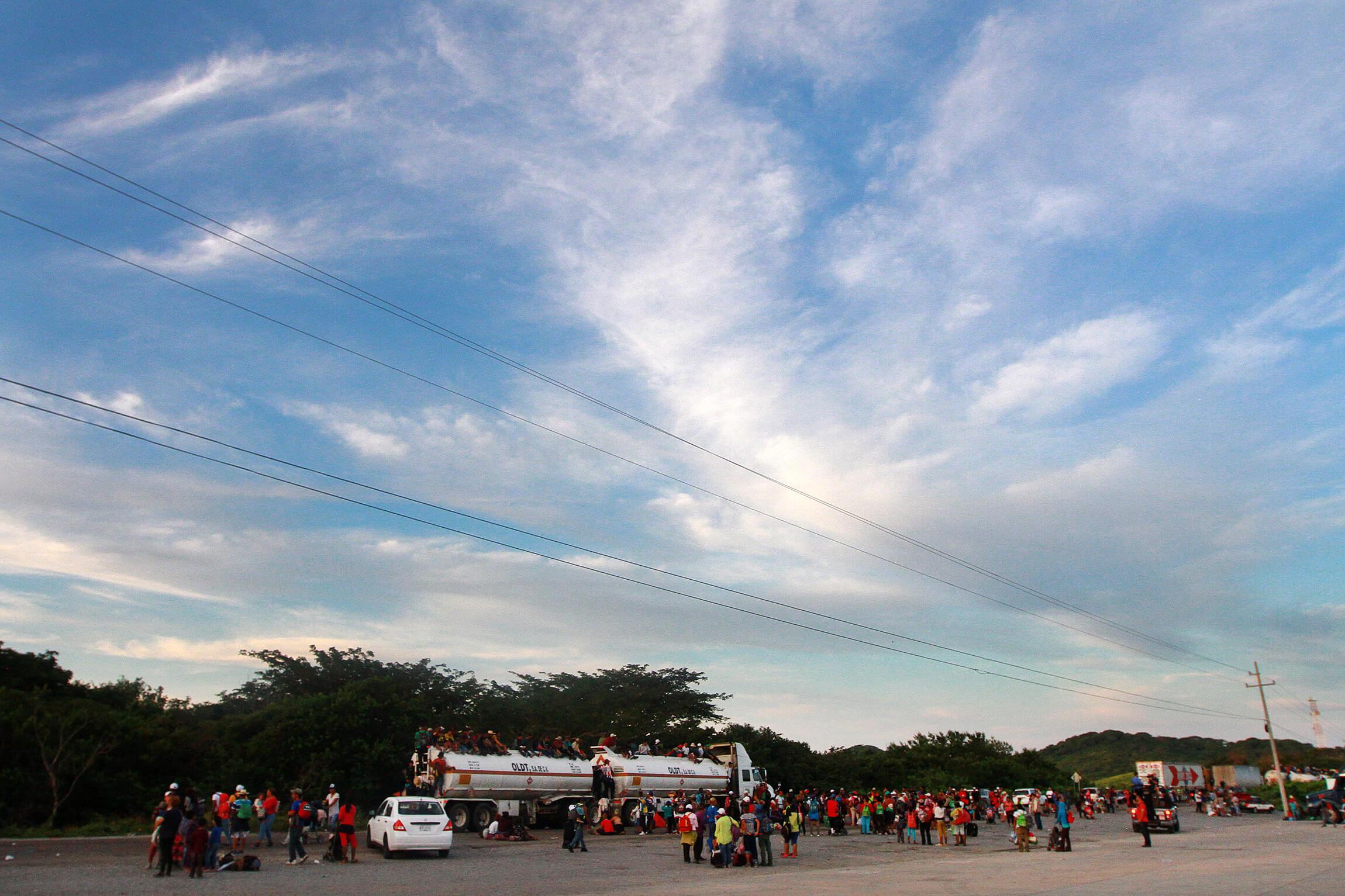 Juchitán, nuevo destino de la caravana migrante de Honduras