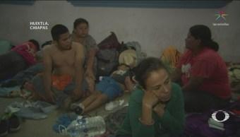 Migrantes Recuperan Descansan Huixtla Chiapas Caravana