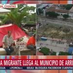 Migrantes se refugian del intenso calor en Arriaga, Chiapas