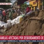 Miles de familias afectada por desbordamiento de ríos en Veracruz